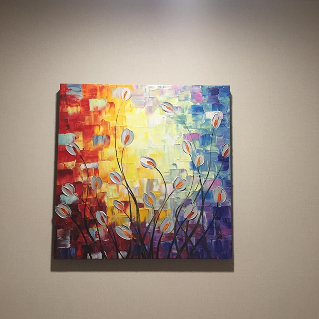 蓮の絵画 5 (40X80CM) 31