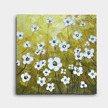 おしゃれな花の絵 黄色