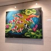 鯉の絵 2 - 風水インテリア絵画