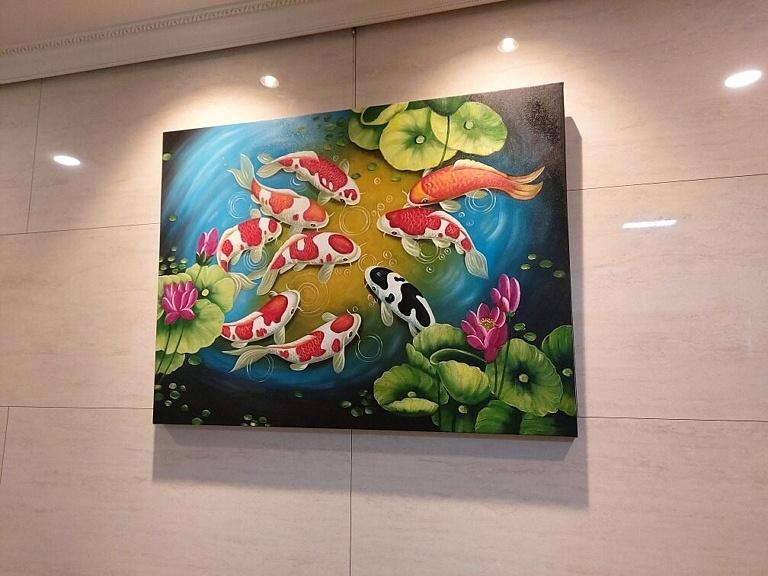 鯉の絵 2 - 風水インテリア絵画 photo review